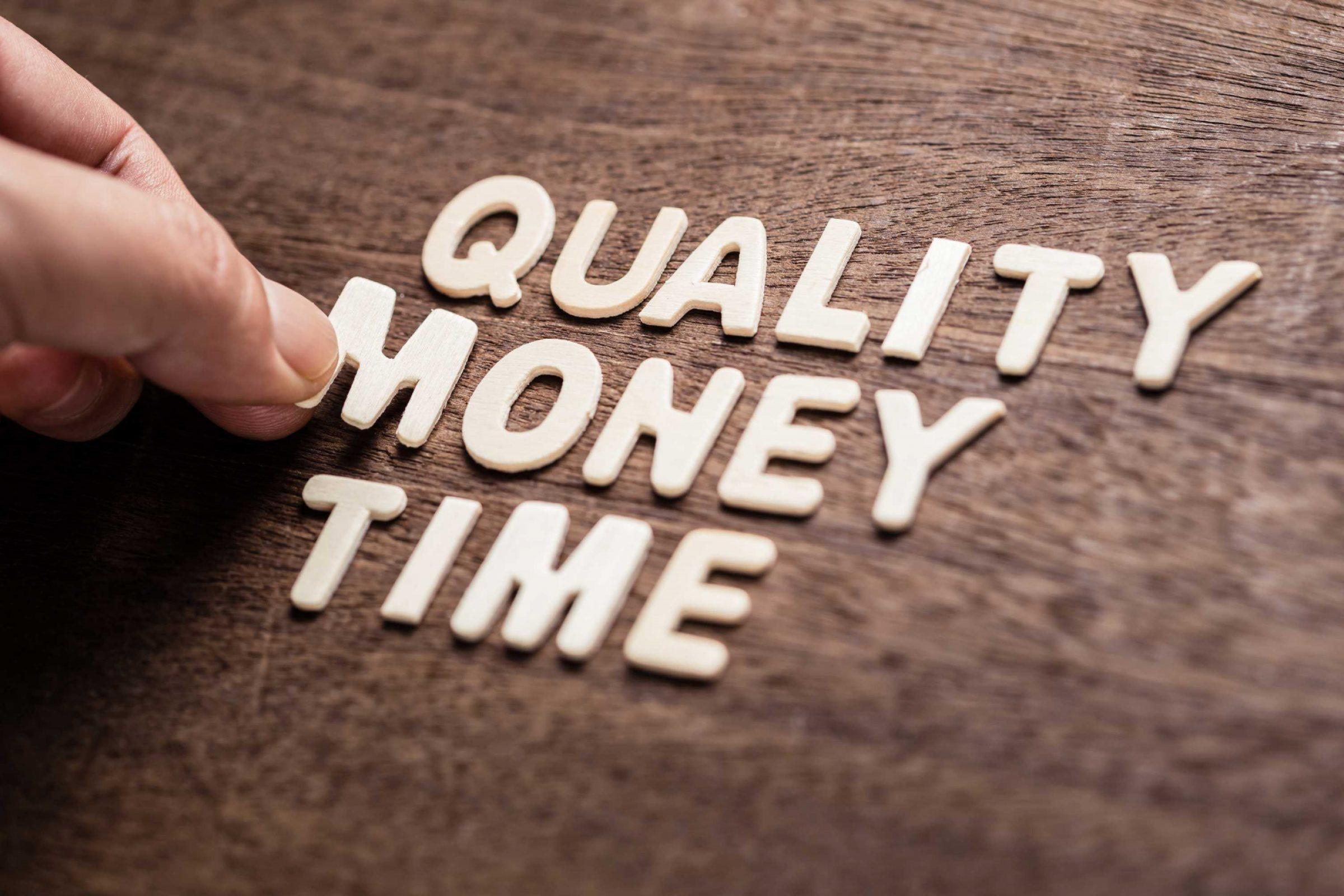 Kwaliteit geld tijd